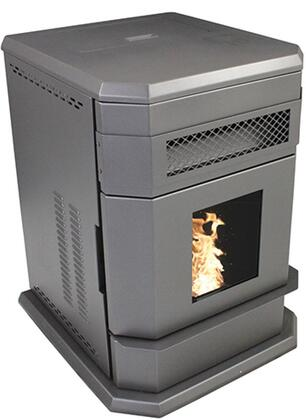 "VG5790 27"" Large Hopper Pellet Stove with 65 000 BTUs Heating up to 2 800 sq. ft. 120 lb. Pellet Capacity 200 CFM Blower Included LED Display with"