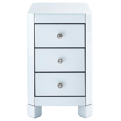 DSD114007 Reverse Painted White Glass Side Table In