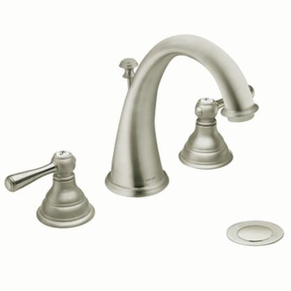 T6125BN Kingsley Two-handle High Arc Bathroom Faucet in Brushed