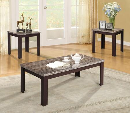 Carly Collection 81400 3 PC Living Room Table Set with 48