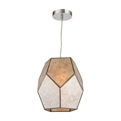 Therese Collection D2967 10 inch  Pendant with 1 Light Capacity  E26 Bulb Type  UL Listed  Mica and Metal Materials in Natural Silver and Gold