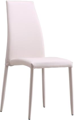 LS-403-B 38 inch  Dining Chair with Metal Base Frame and Fire-Resistant Eco-leather Upholstery in