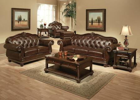 Anondale 15030SLCOT 7PC Living Room Set with Sofa + Loveseat + Chair + Ottoman + Coffee Table + End Table + Sofa Table in
