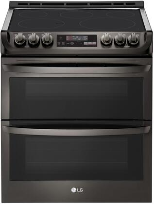 LTE4815BD Slide-In Electric Range with Double Oven  7.3 cu. ft. Capacity  ProBake  and Self EasyClean  in Black Stainless