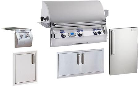 Grill Package with E790I4L1N Built In Natural Gas Grill  32814 Double Side Burner  3598-DR Refrigerator  53938SC Double Access Doors  53920SC-SL Single Access