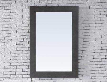 Metropolitan Collection 850-M30-SOK 30 inch  x 42 inch  Mirror with Recessed Keyhole Brackets  Beveled Glass and Wood Frame in Silver