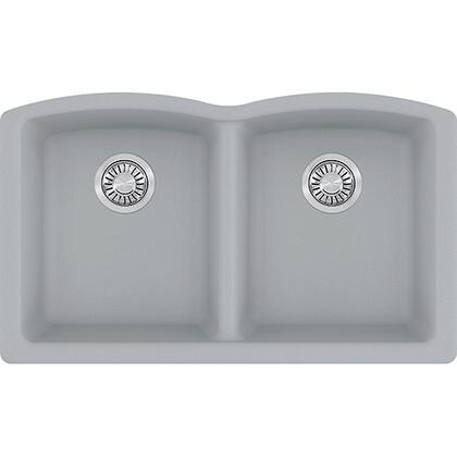 Ellipse Series ELG120SHG 33 inch  Undermount Double Bowl Granite Sink in Shadow