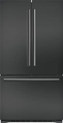 B21CT80SNB 36 inch  800 Series Freestanding French Door Refrigerator with 20.7 cu. ft. Total Capacity  4 Adjustable Tempered Glass Shelves  and Automatic Ice Maker