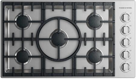Fisher Paykel CDV2365HLN Professional Series 36 Inch Cooktop