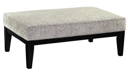 Iliana Collection MI-7796-09LINE Oversized Accent Ottoman with Fabric Upholstery  Piped Stitching  Tapered Legs and Contemporary Style in 498730