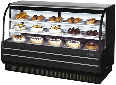 TCGB72BN_73_Curved_Glass_Refrigerated_Bakery_Display_Case_with_232_cu_ft_Capacity__Self_Cleaning_Condenser__Hydrocarbon_Refrigerants_and