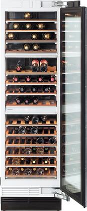 "KWT1603SF 24"" MasterCool Series Wine Storage System with 102 Bottle Capacity  14 Acacia Wood Shelves  UV Protected Glass Door  Door & Temperature Alarm and"