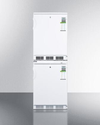 FF7L-VT65MLSTACKMED 24 inch  All Refrigerator and All Freezer Stacked Combo: FF7LMED with 5.5 cu. ft. Refrigerator Capacity  VT65MLMED with 3.3 cu. ft. Freezer
