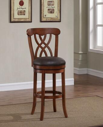 Lydia B2-253-30L 30 inch  Bar Stool with 360 Degree Swivel Seat  Fire Retardant Foam Cushion and Comfortable Foot Rail in Light Oak with Bourbon Bonded