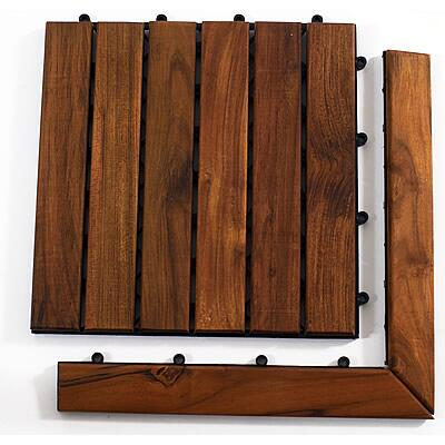 899029001576 Le click Teak Set of 2 Corner Pieces with Pin and Loop side