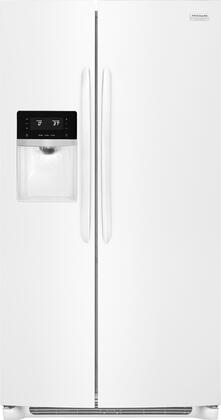 Frigidaire FGSS2635TP Gallery Series 36 Inch Freestanding Side by Side Refrigerator with 25.6 cu. ft. Capacity, in Pearl White