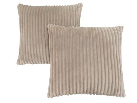 I 9355 18 inch  x 18 inch  Pillow with Textured Rib Cover in Beige - 2