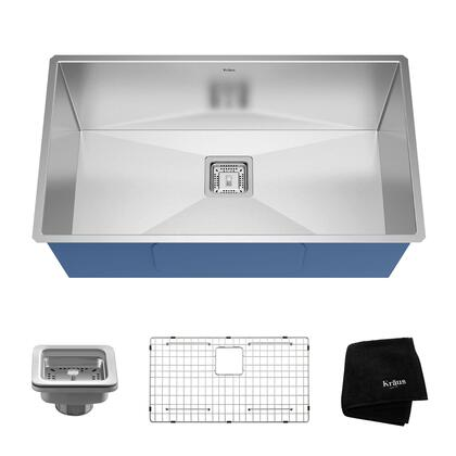 KHU32 Pax Series 32 inch  Zero-Radius Bar/Prep Sink with Stainless Steel Construction  NoiseDefend  and Deep Sink