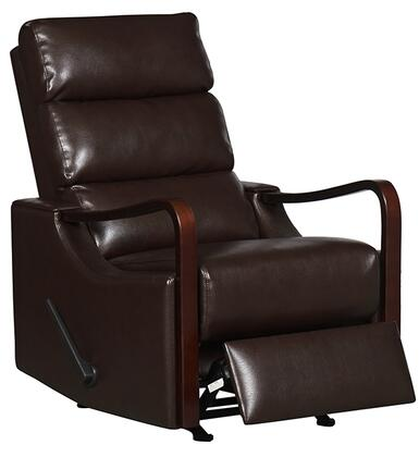 21310-CHOCOLATE Rissanti Salerno Zerostrain Glider Recliner with Espresso Arm Rest in