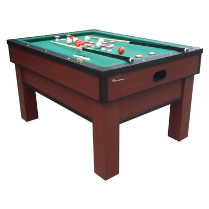 G02251AW Classic Bumper Pool with Two 48 inch  Cues  a Set of Bumper Pool Balls  a Brush  and