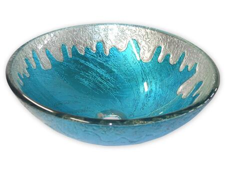 EB_GS33 Blue Ice Glass Vessel