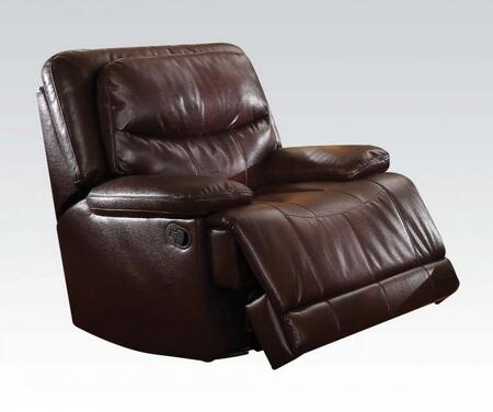 Cerviel 51502 41 inch  Recliner with Pillow Top Arms  Split Back Cushion  Pocket Coil Seating  Motion Mechanism and Leather-Aire Upholstery in Burgundy
