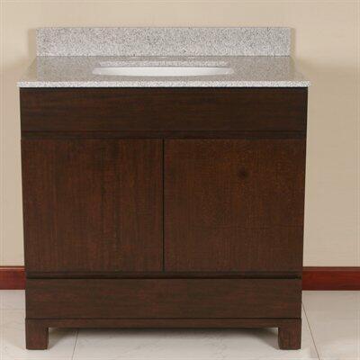 WF6828-36/DC Single Sink Wood Vanity With Granite Top and