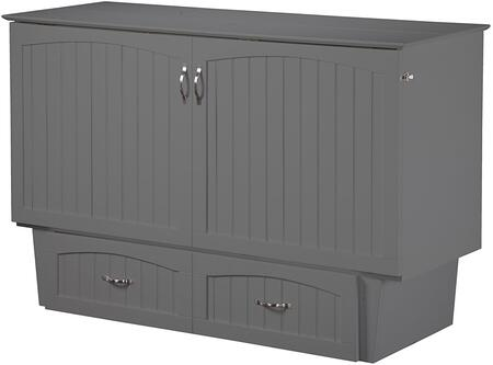 Nantucket AC592149 Murphy Twin Sized Bed Chest with Satin Finished Hardware  Extra Large Storage Drawers and Mattress Pull Handles in Atlantic