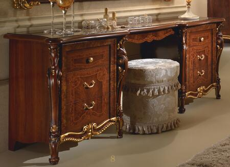 """Donatello_DONATELLOVANITYDRESS_73""""_Vanity_Dresser_with_6_Drawers__Carved_Detailing_and_Simple_Pulls_in_Walnut"""