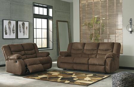 Tulen Collection 98605SL 2-Piece Living Room Set with Reclining Sofa and Loveseat in