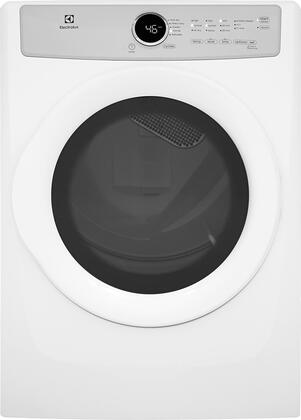 Electrolux EFDE317TIW 27 Front Load Electric Dryer with 8 cu. ft. Capacity 5 Drying Cycles 3 Temperature Settings Wrinkle Release IQ-Touch Controls and 3 Dryness Levels in Island