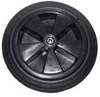 "ZCV2140-K 14"" Solid Heavy Duty Black Wheel for 60"" & 72"""