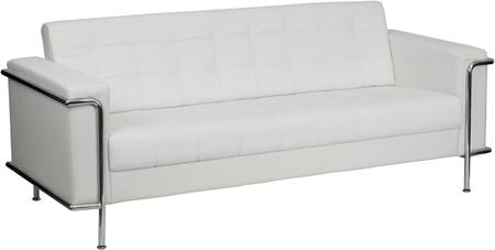 ZB-LESLEY-8090-SOFA-WH-GG HERCULES Lesley Series Contemporary White Leather Sofa with Encasing