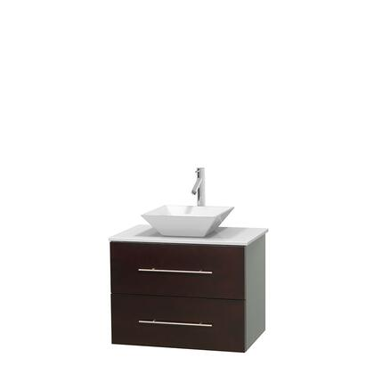 Wcvw00930seswsd2wmxx 30 In. Single Bathroom Vanity In Espresso  White Man-made Stone Countertop  Pyra White Porcelain Sink  And No