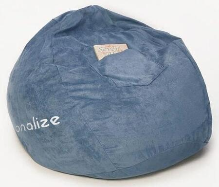 30231P Small Beanbag Blue Micro Suede -