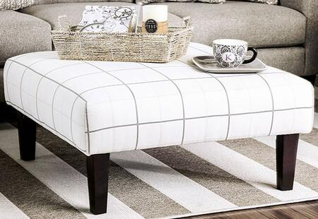 Dorset SM8564-OT Ottoman with Tapered Legs  Stitching Details and Fabric Upholstery in