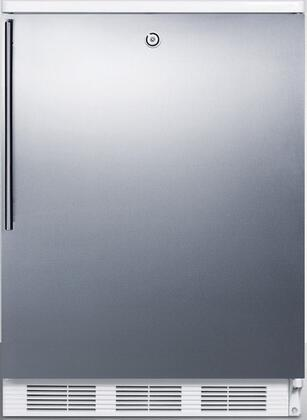 FF6L7SSHV 24 inch  5.5 cu. ft. Commercially Approved Compact Refrigerator with Adjustable Glass Shelves  Door Storage  Fruit/Vegetable Crisper  and Factory