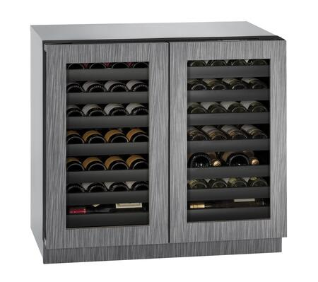 """U-3036WCWCINT-00A 36"""" Wine Captain with 7.0 cu. ft. Capacity  Dual Zones  LED Lighting  Three Cooling Modes  4 Leveling Legs  U-Select Control  and Panel Ready"""