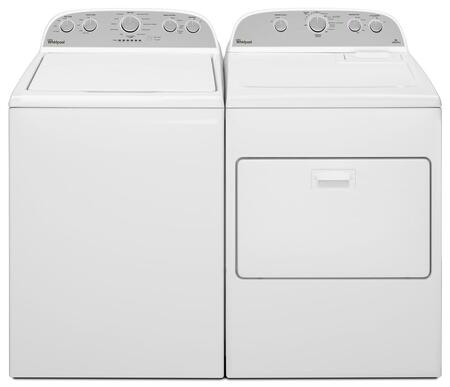 "Cabrio White Top Load Laundry Pair with WTW5000DW 27.5"""" Washer and WGD5000DW 29"""" Gas"" 373163"