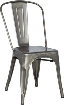 8022-SC-GUN Galvanized Steel Side Chair in Gun