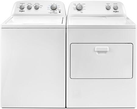 White Top Load  Pair with WTW4850HW 28 inch  Washer and WED4850HW 29 inch  Electric