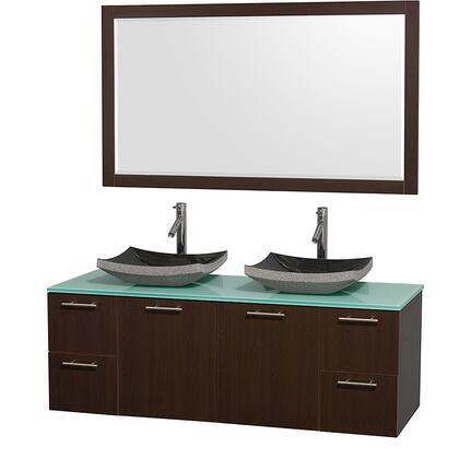 WCR410060ESGRGS1M1DB 60 in. Double Bathroom Vanity in