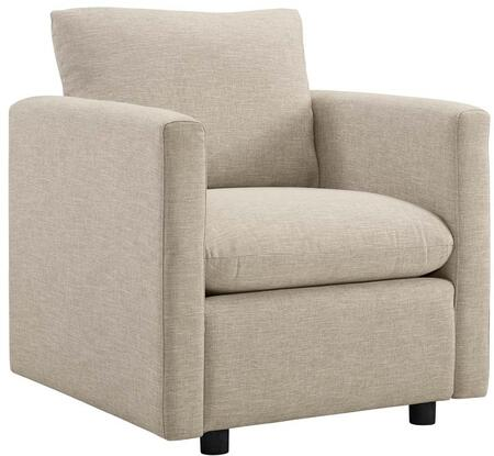 Modway EEI-3045-BEI Activate Upholstered Fabric Armchair Beige