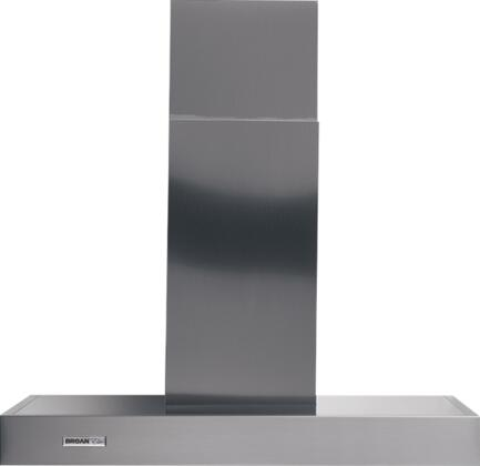Rangemaster RM533604 36 Wall Mount Chimney Hood with 370 CFM Internal Blower  Multi-Speed Slide Control  Heat Sentry  Dishwasher-Safe Filters and Convertible