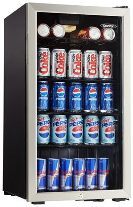 DBC120BLS3 18 inch  Beverage Center with 3.3 cu. ft. Capacity or 120 Can Capacity  Integrated Lock with Key  Interior Lighting  in Stainless Steel Trim with Glass
