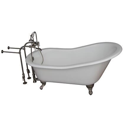 TKCTSN67-BN1 Tub Kit 67 CI Slipper  Tub Filler  Supplies  Drain-Brush