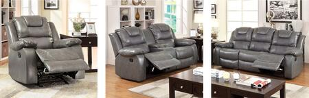 Grandolf Collection CM6813-SLR 3-Piece Living Room Set with Motion Sofa  Motion Loveseat and Recliner in