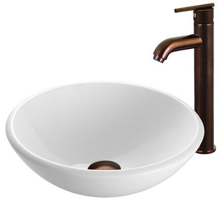 VGT202 Single Lever Waterfall Vessel Sink and Faucet with 2.2 GPM Flow Rate  Oil Rubbed Bronze Spout  and Mounting