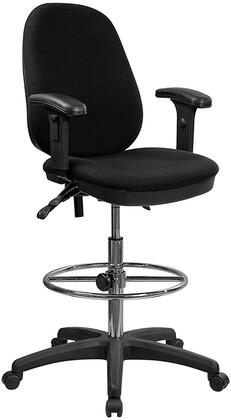 KC-B802M1KG-ARMS-GG Ergonomic Multi-Functional Triple Paddle Drafting Stool with Adjustable Foot Ring and