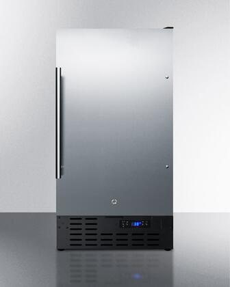 Summit FF1843BCSSADA 18 in. Freestanding or Built in Counter Depth Compact Refrigerator, Stainless Steel